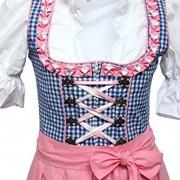 Alpenmrchen-3tlg-Dirndl-Set-Trachtenkleid-Bluse-Schrze-Gr32-46-trkis-fuchsia-0-0