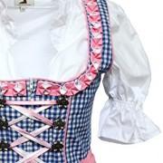 Alpenmrchen-3tlg-Dirndl-Set-Trachtenkleid-Bluse-Schrze-Gr32-46-trkis-fuchsia-0-2