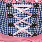 Alpenmrchen-3tlg-Dirndl-Set-Trachtenkleid-Bluse-Schrze-Gr32-46-trkis-fuchsia-0-3